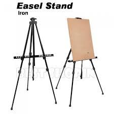iron easel stand display art sketch tripod floor countertop