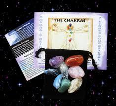 Chakra Reiki Kit 7 Healing Stones Lemurian Seed Crystal Color Chakra Chart