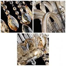hand formed crystal arms warm amber crystal 3 light mini chandelier