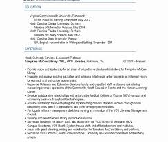 Vcu Resume Template Library Science Resume Template Fresh Literarywondrous Example 1