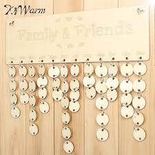 gift wooden birthday calendar board diy family friends birthday calendar sign special dates planner board hanging