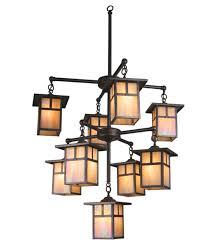 craftsman style lighting. Meyda 20814 Hyde Park Nine Light Chandelier Craftsman Style Lighting T
