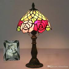8 inch tiffany lamp 8 inch table lamp warm bedroom study small desk lamp bar hotel 8 inch tiffany lamp