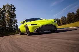 2018 aston martin v8 vantage. evo exclusive aston martin vantage - green driving front quarter 2018 v8 t