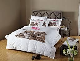 dorm room bedding extra long twin animal print duvet covet set dolce mela dm486t