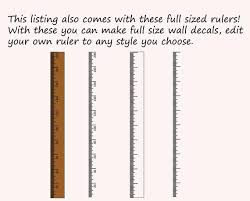 Growth Chart Ruler Stencil File Metric Imperial Svg Dxf Pdf Diy Growth Chart Ruler Sign Growth Chart Ruler Wall Decal Svg