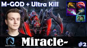 miracle broodmother mid m god with ultra kill dota 2 pro pub