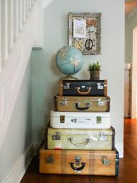 Vintage Furniture made of Old Suitcases Room Decorating in