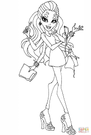 Monster High Wydowna Spider coloring page | Free Printable ...