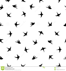 Bird Pattern Impressive Flying Birds Silhouette Pattern Stock Vector Illustration Of
