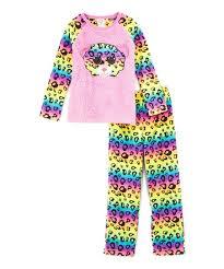 Intimo Ty Beanie Boo Pink Yellow Dotty Raglan Pajama Set Girls