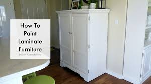 paint laminate furnitureHow To Paint Laminate Furniture  YouTube
