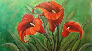 calla lily flower painting beautiful acrylic flower painting