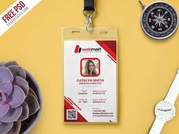 Id Card Templates Free Photo Id Card Template Free Psd Download Psd