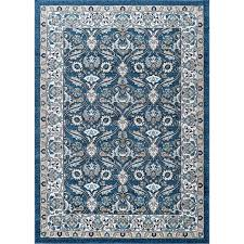 8 x 10 large navy gray and aqua area rug kensington rc willey furniture