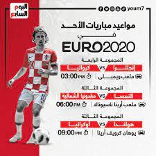 """مواعيد مباريات اليوم في يورو 2020 ..""""انفوجراف"""" - اليوم السابع"""