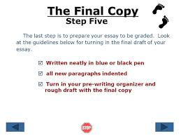 steps in writing an essay ppt  7 the