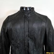 details about a n a new approach soft lambskin leather biker jacket womens size l black