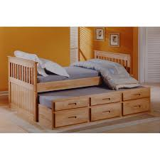Single Bedroom Just Kids Captains Single Bed With Trundle And Storage Reviews