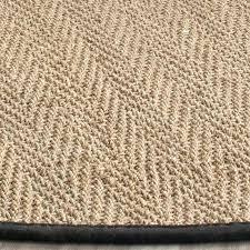 round seagrass rug casual natural fiber natural black rug 6 x 6 round on round seagrass rug
