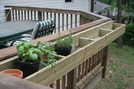garden planter boxes deck planters