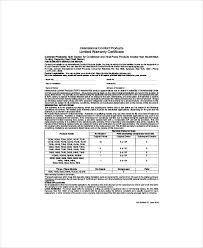 warranty template word certification warranty template warranty certificate template 9 free