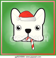 cute french bulldog clipart. Beautiful French Cute French Bulldog In Christmas Festival With French Bulldog Clipart W