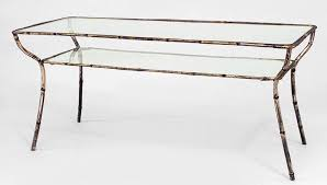 glass top coffee table with metal base rectangular wrought iron coffees tables with distressed antiqued gold