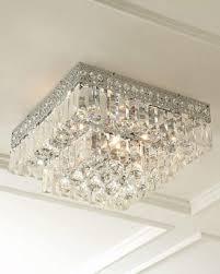 horchow five light crystal flush mount ceiling fixture