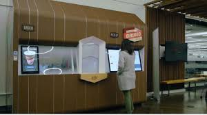 Their machines are hard to miss: Briggo S Robot Barista With App Interface Makes 100 Cups Of Coffee Per Hour
