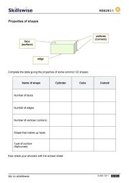 3 D Shapes Worksheet Preview Properties Of Sorting 3d Kindergarten W ...