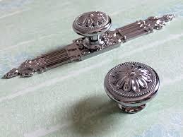 cabinet knobs silver. Silver Dresser Knob Drawer Knobs Pulls Handles Kitchen Cabinet Handle Ornate Hardware Furniture Door V