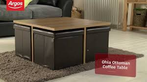 ohio ottoman chocolate and oak effect coffee table argos review