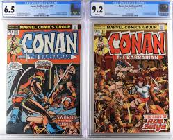 Marvel Conan the Barbarian #23 #24 CGC 6.5 9.4 sold at auction on 4th April