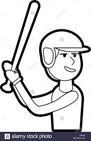 Boy playing baseball stock image