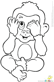 Baby Monkey Coloring Pages Baby Monkey Coloring Page Cartoon Baby