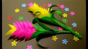 Красивые Цветы <b>Цветная Бумага</b>. Декор офиса, дома.Сувенир ...