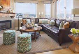 leather sectional living room furniture. Leather Sectional Sofas To Complete Your Living Room Image. Typical Classic Interior With Large Windows Furniture
