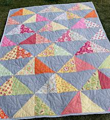 My First HST Quilt | The Stitching Scientist & I will definitely try a few more of HST quilts. I enjoyed making it and  honestly, it's not as hard as it looks. Adamdwight.com