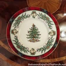 Tartan Chargers for the Holiday Table. Spode Christmas TreeChristmas ...
