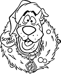 Small Picture Scooby Doo Christmas Coloring Printable Pages Download