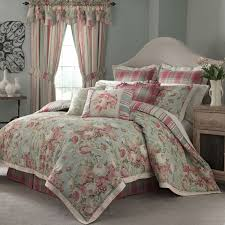 Neutral Grey Bedroom Shows Cute Pink And Teal Waverly Toile Pics On  Marvelous Blue Bedding Of ...