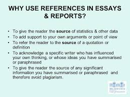 references bibliographies ppt why use references in essays reports