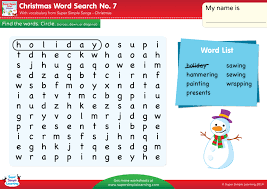 christmas word search 7 super simple
