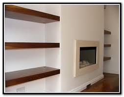alcove floating shelves diy