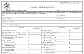 Personal Assets And Liabilities Statement Template Savings Account Spreadsheet Personal Financial Statement Spreadsheet