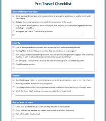 Business Travel Checklist Template - List Templates