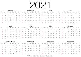 2021 Kalender zum ausdrucken | Kalender zum ausdrucken, Kalender, Leerer  kalender