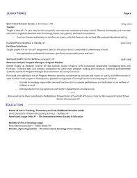 Educator Sample Resumes Substitute Teacher Resume Sample Resume Template 71