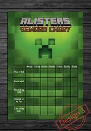 Minecraft Sticker Chart Minecraft Reward Chart Printable Related Keywords